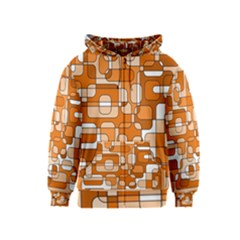 Orange decorative abstraction Kids  Zipper Hoodie