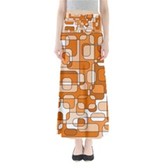 Orange decorative abstraction Maxi Skirts