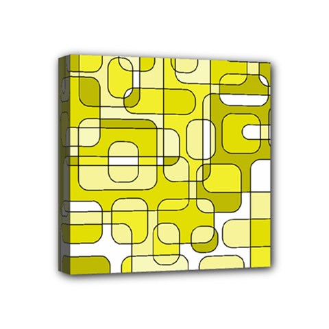 Yellow decorative abstraction Mini Canvas 4  x 4