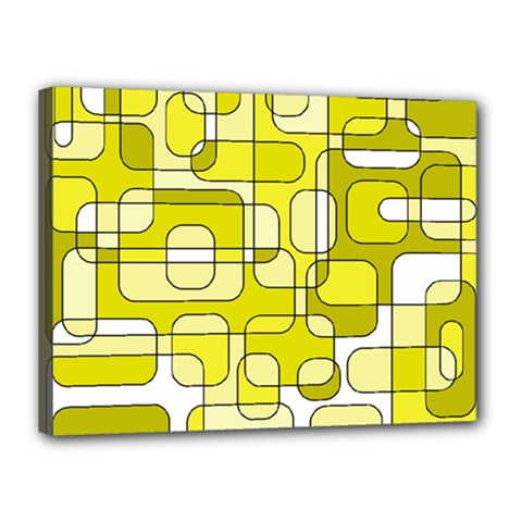Yellow decorative abstraction Canvas 16  x 12