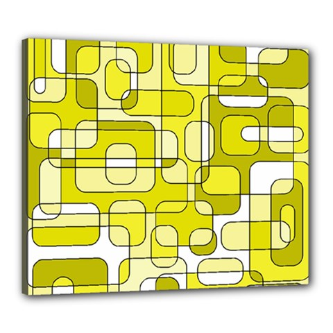 Yellow decorative abstraction Canvas 24  x 20