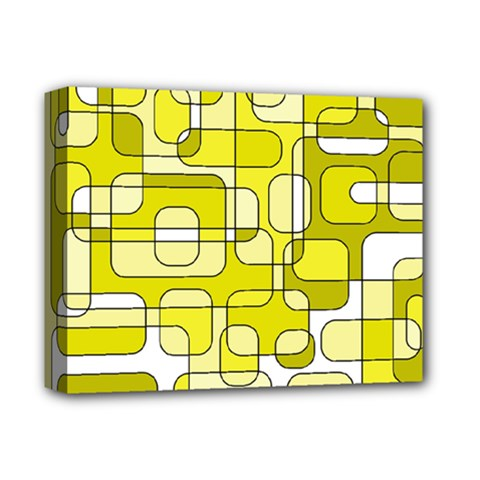 Yellow decorative abstraction Deluxe Canvas 14  x 11