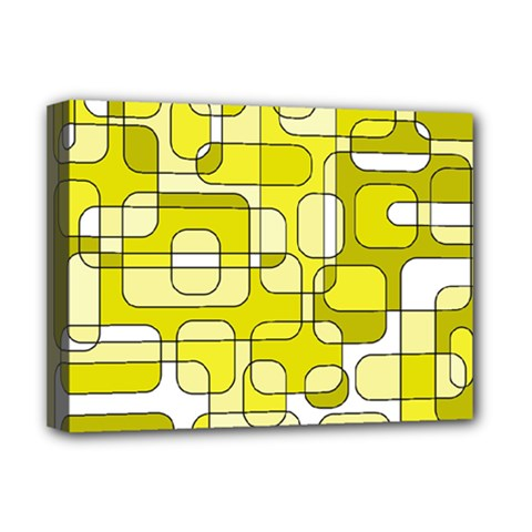 Yellow decorative abstraction Deluxe Canvas 16  x 12