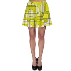 Yellow decorative abstraction Skater Skirt