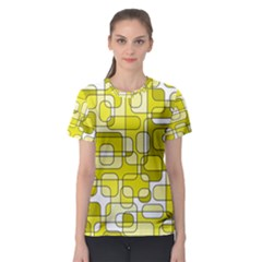 Yellow decorative abstraction Women s Sport Mesh Tee