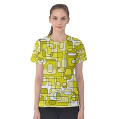 Yellow decorative abstraction Women s Cotton Tee