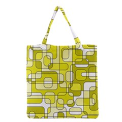 Yellow decorative abstraction Grocery Tote Bag