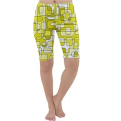 Yellow decorative abstraction Cropped Leggings