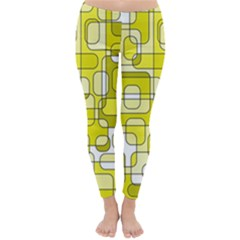 Yellow decorative abstraction Winter Leggings