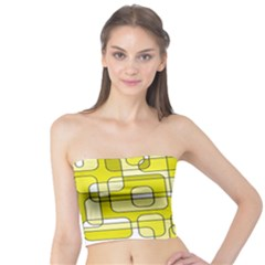 Yellow decorative abstraction Tube Top