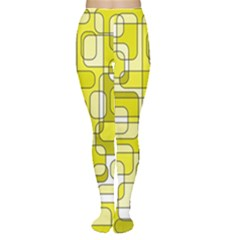 Yellow decorative abstraction Women s Tights