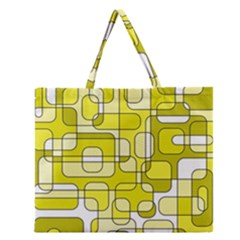 Yellow decorative abstraction Zipper Large Tote Bag