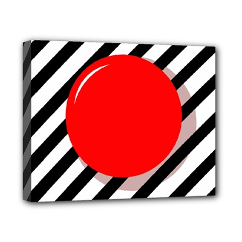 Red ball Canvas 10  x 8