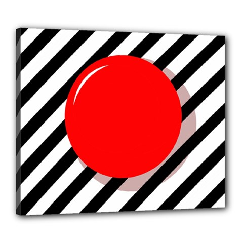 Red ball Canvas 24  x 20
