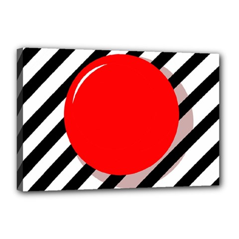 Red ball Canvas 18  x 12