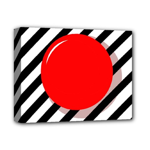 Red ball Deluxe Canvas 14  x 11