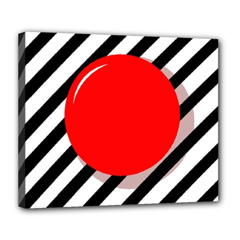 Red ball Deluxe Canvas 24  x 20