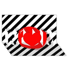 Red ball MOM 3D Greeting Card (8x4)