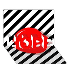 Red ball HOPE 3D Greeting Card (7x5)