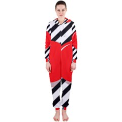Red ball Hooded Jumpsuit (Ladies)