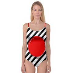 Red ball Camisole Leotard
