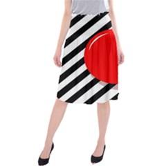 Red ball Midi Beach Skirt