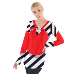 Red ball Women s Tie Up Tee