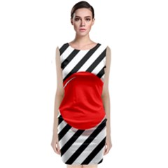 Red Ball Classic Sleeveless Midi Dress