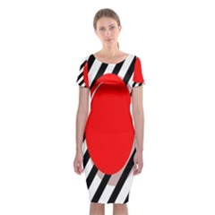 Red Ball Classic Short Sleeve Midi Dress