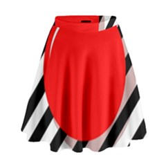 Red Ball High Waist Skirt