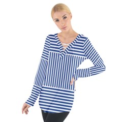 Nautical Striped Women s Tie Up Tee