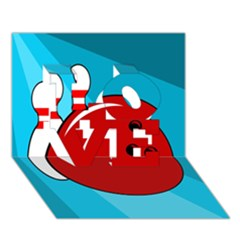 Bowling  LOVE 3D Greeting Card (7x5)