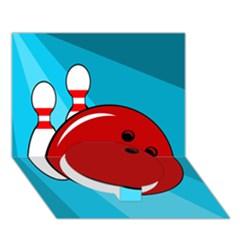 Bowling  Circle Bottom 3D Greeting Card (7x5)