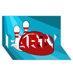 Bowling  PARTY 3D Greeting Card (8x4)