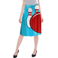 Bowling  Midi Beach Skirt