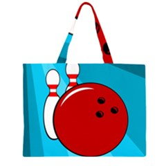 Bowling  Zipper Large Tote Bag