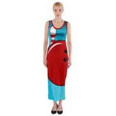 Bowling  Fitted Maxi Dress