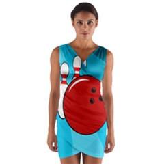 Bowling  Wrap Front Bodycon Dress