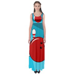 Bowling  Empire Waist Maxi Dress