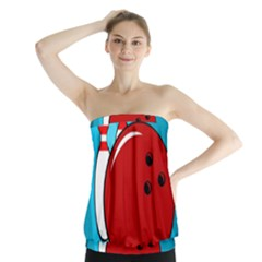 Bowling  Strapless Top
