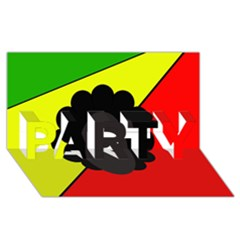 Jamaica PARTY 3D Greeting Card (8x4)