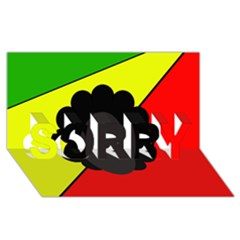 Jamaica SORRY 3D Greeting Card (8x4)