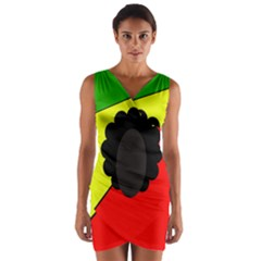 Jamaica Wrap Front Bodycon Dress