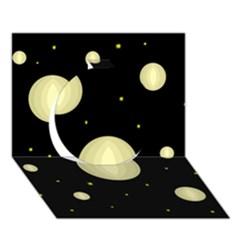 Lanterns Circle 3D Greeting Card (7x5)