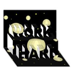 Lanterns WORK HARD 3D Greeting Card (7x5)