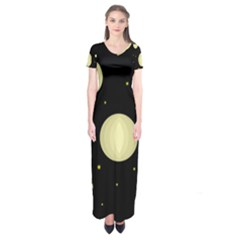 Lanterns Short Sleeve Maxi Dress