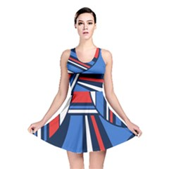 Abstract Nautical Reversible Skater Dress