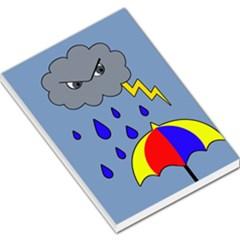 Rainy day Large Memo Pads