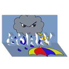 Rainy day SORRY 3D Greeting Card (8x4)