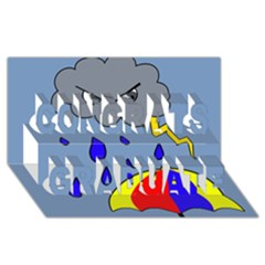 Rainy day Congrats Graduate 3D Greeting Card (8x4)